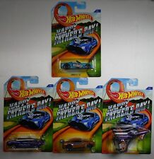 HOT WHEELS 2015 COMPLETE SET OF 4 HAPPY FATHER'S DAY MUSTANG - CAMARO - CORVETTE