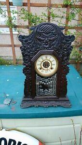 Antique Gingerbread Striking Clock