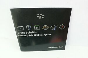 BEDIENUNGSANLEITUNG FÜR BLACK BERRY BOLD 9000 SMARTPHONE HANDY BETRIEBSANLEITUNG