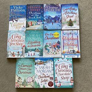 11 Christmas romance books chick lit cosy job lot bundle xmas Morgan Roberts