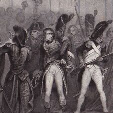 Gravure XIXe Napoléon Bonaparte Coup d'État 18 Brumaire An VIII 1839