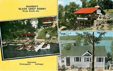 Osage Beach MO~Speed Boat Rides~Barge Fishing~Hansen's Glaize Crest Resort 1940s