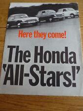 Honda N360, N600 y S800 folleto de auto Jm