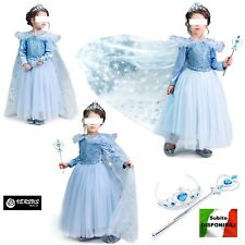 Simil Frozen Vestito Carnevale Elsa 2 -8 A Cosplay Elsa Costume Dress FROZ004 SD