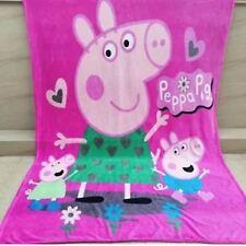 X Large Soft Mink Blanket Flannel Fabric Plush 1.5x2 Meter Peppa Pig