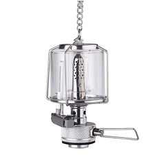 Mini Portable Hanging Camping Lantern Gas Light Tent Lamp Torch Glass Lamp ED