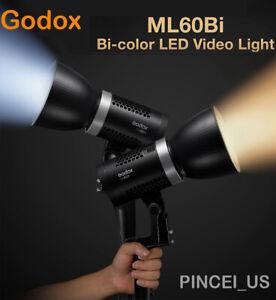 Godox ML60BI Bi-Color LED Video Light 2800K-6500K LED Light For Bowens Mount