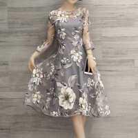 Women summer Casual Chiffon Floral Dresses Beach Evening Party Maxi Long Dress