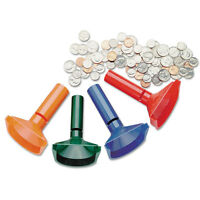 SteelMaster Color-Coded Coin Counting Tubes f/Pennies Through Quarters 224000400