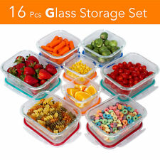 Imperial 16 pc Glass Food Storage Containers Tight Silicone Lids Vents