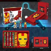 LEGO COM. MATTONCINI MARVEL AVENGERS IRON MAN BOOK CONTENITORE CON PERSONAGGI