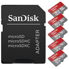 SanDisk Micro SD Card 16GB 32GB 64GB 128GB Class 10 Android Nintendo Samsung lot