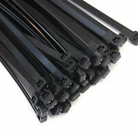 """50 Extreme Heavy Duty 18"""" 175 Pound Zip Cable Ties Nylon Wrap Wide New Black"""