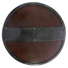 Epic Armoury Schild mit Eisenband Rundschild Mittelalterschild Mittelalter LARP