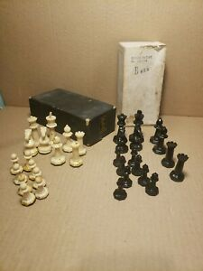 Vintage Drueke pawns in box no. 128794 non weighted plastic