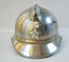 Antique Collectible Russian Rescue Firefighter Fire Fighter Metal Helmet Chrome