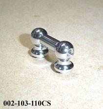 TUBO Capocorda-singolo terminata 36mm lunga-Qualità Top Chrome in ottone 002-103-110cs