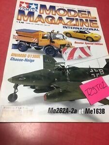 Tamiya Modell Magazin International Nr°59 2002 Unimog U1300L Me262A-2a Me163B