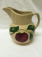 Vintage Watt Pottery Three Leaf #16 Apple Pitcher