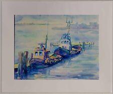 Speckum Horst, deutscher Maler 1940-2008, Wandbild 1987 -Am Nord-Ostseekanal xx