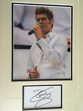 BRIAN McFADDEN - FORMER WESTLIFE BAND MEMBER - SUPERB SIGNED PHOTO DISPLAY