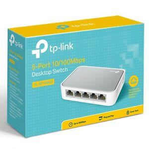 TP-LINK 5 Port Network Desktop Switch TL-SF1005D 10/100Mbps Home Ethernet Hub