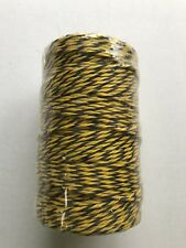 Elec,Fencing Yellow/Black Polywire, 3 stainless steel conductors 200M= 656' New