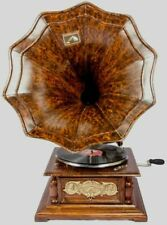 Vintage Hmv Antique Old Machine Wooden Collectible Gramophone Phonograph
