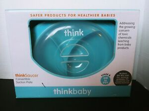Thinkbaby, Thinksaucer, Convertible Suction Plate, pink &blue,  New In Box
