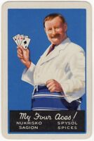 Playing Cards 1 Single Card Old SAIGON SPICES Advertising Art CHEF COOK 4 Aces