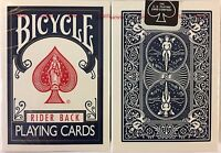 Blue Rider Back Bicycle Playing Cards Poker Size Deck USPCC New Sealed