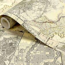 NUOVO 1 MURO VINTAGE mappe Modello Antico Motivo Murale Sfondo ROLL w10mmaps01