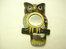 Cloisonne Never Used A1 Chinese gorgeous antique Small Owl With Mirror Picture