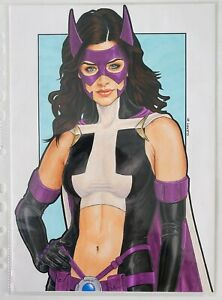 Realistic 2000s Huntress! Original Drawing Comic Art by Peter Cleary