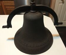 Antique Large J. L. Haven & CO School/Church Bell Cincinnati Ohio Steel Large