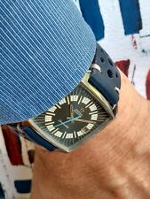 Vintage Omega Seamaster Compressor Blue Racing Dial Cal 565 Square Watch 166.042