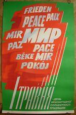 Soviet Ukrainian Original POSTER 1 May PEACE USSR propaganda