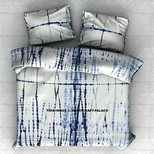 Indian Blue Ink Stripe Queen Bedspread Wall Hanging Tapestry Bed Sheet Throw