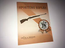 Smith & Wesson Vintage Sporting Rifles Brochure Catalog 1960s Hunting