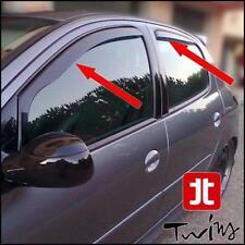Set 4 Déflecteurs de vent pluie air teintées Peugeot 206 et 206+ 5 portes Plus +