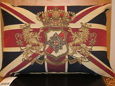 Union Jack Lion & Crown Flag Tapestry Cushion Evans Lichfield
