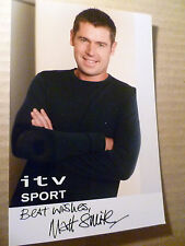 Real Photograph of Matt Smith  iTV Sport Presenter Original Signature 6 x 4 inch