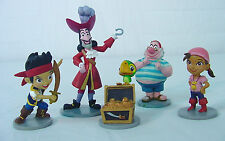 PETER PAN~~ CAPTAIN HOOK lot~~ DISNEY PVC Caketopper set of 5~ Neverlan