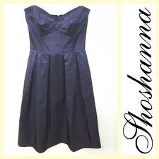 Shoshana $375 strapless striped taffeta party dress~0