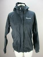 Marmot Size S Womens Black Full Zip Hooded Windproof Rain Jacket 973