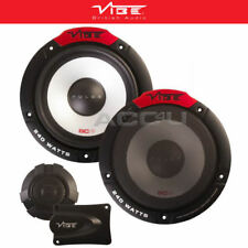 "Vibe Pulse 6C 480w 6.5"" 165mm Car Door Tweeters Crossover Component Speakers Set"