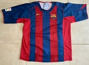 Maillot FC Barcelone 2004-2005 vintage Nike jersey camiseta Barcelona size XL