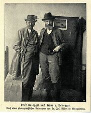 Peter Rosegger und Franz v.Defregger c.1903