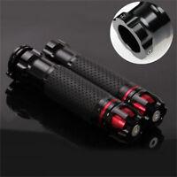 "2x CNC Aluminum Motorcycle Bar Throttle Grip Handle Plug End 22mm 7/8"" Universal"