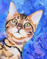 Bengal Cat 11x14 signed art PRINT painting RJK